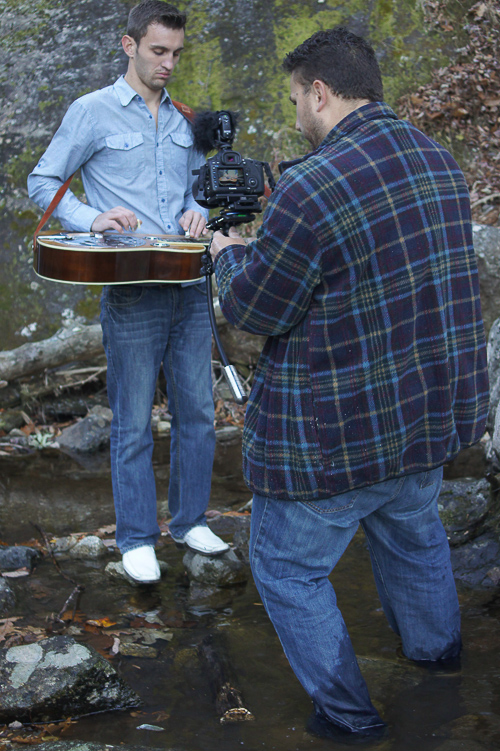 Dave on the Steady Cam and Jerry didn't even get his shoes wet