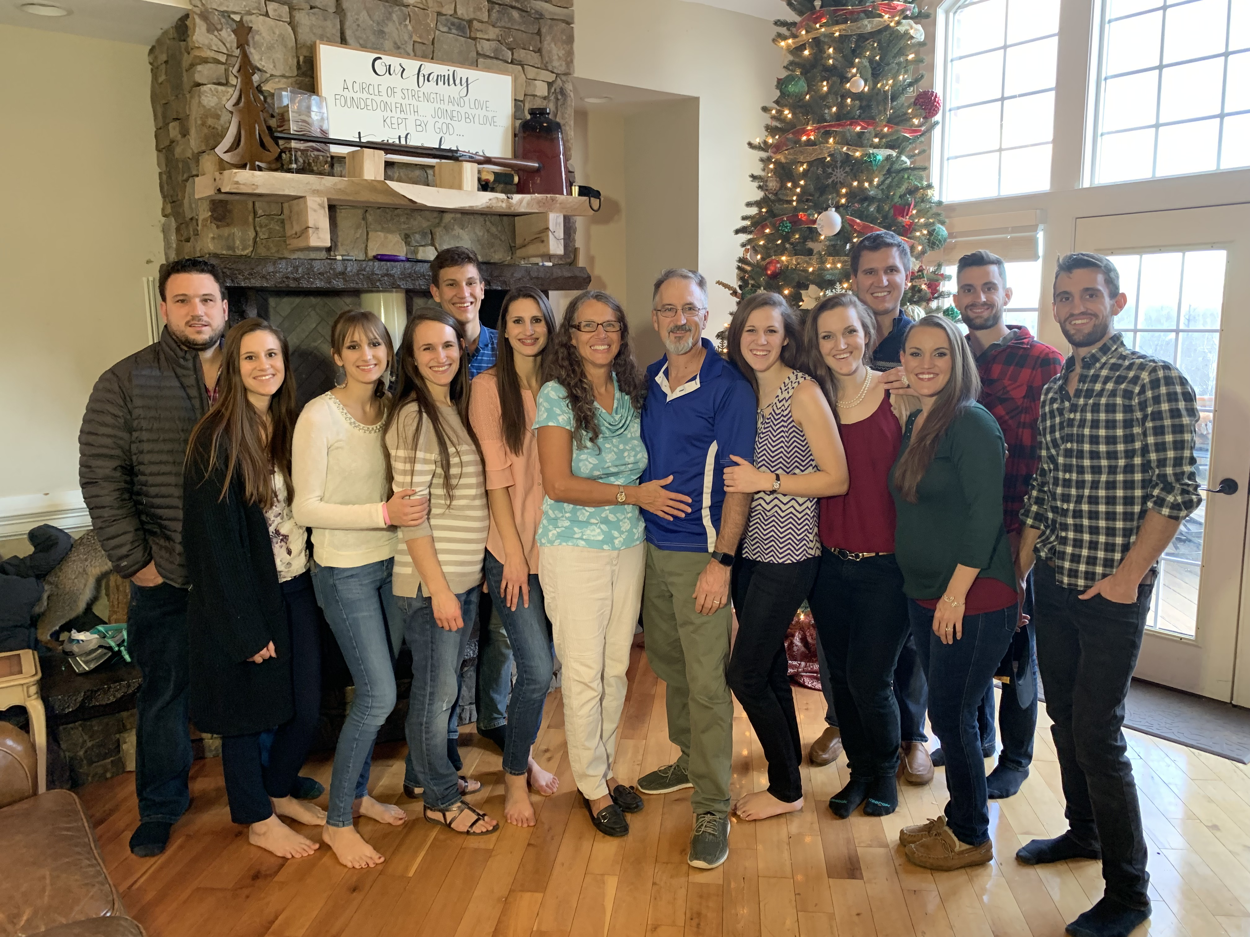 All 12 Kids together during Christmas Holidays
